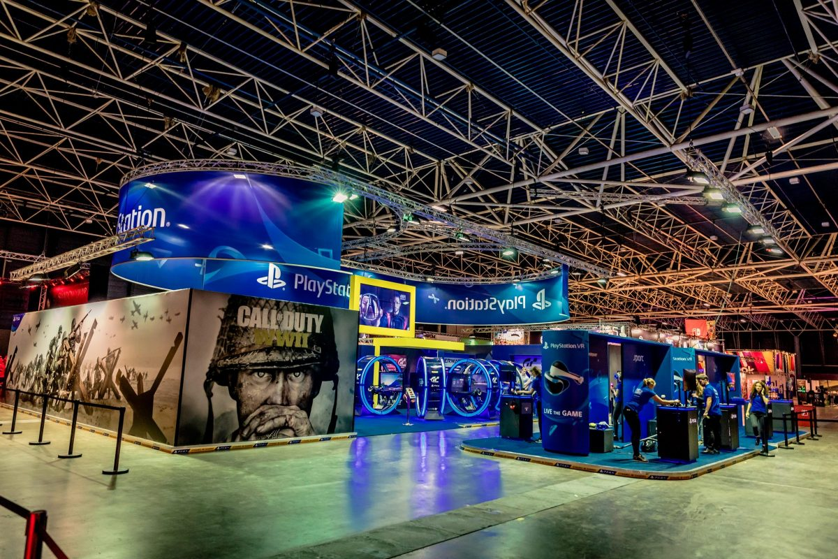 Playstation game tijdens First Look beurs
