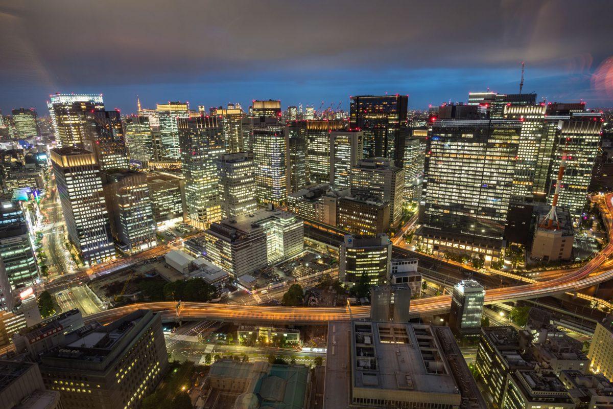 Skyline Tokyo tijdens highlight tour